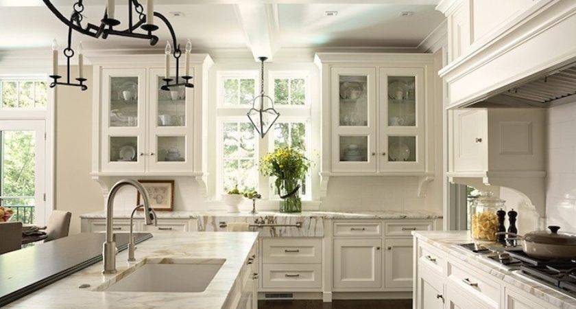 Off White Kitchen Cabinets Transitional