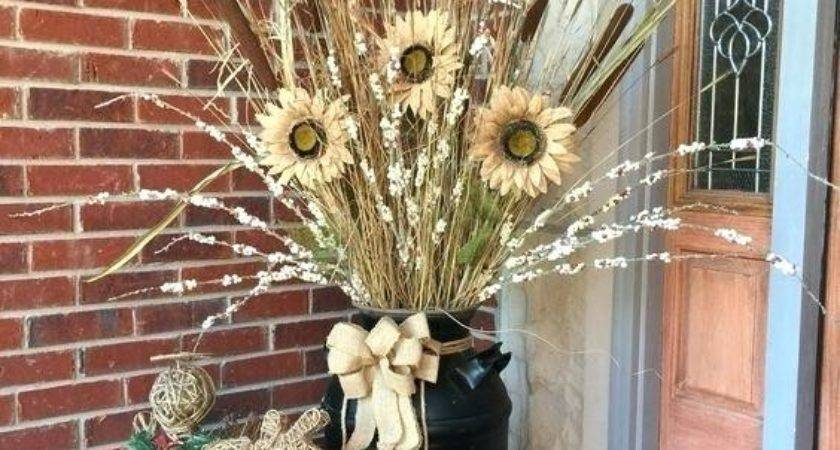 Old Milk Can Decorating Ideas Front Porch