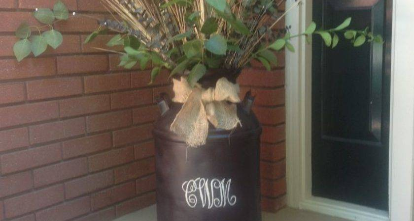 Old Milk Can Decorating Ideas