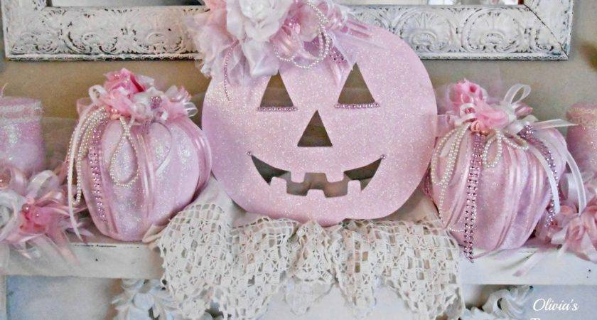 Olivia Romantic Home Shabby Chic Pink Pumpkin Fall