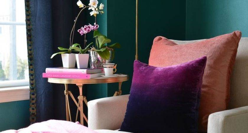 Ombre Pillow Eclectic Living Room Dalliance Design