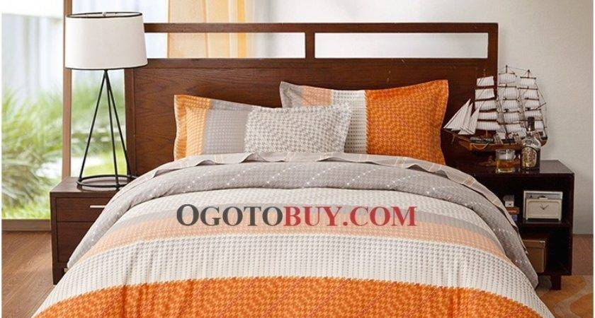 Orange Gray Bedding Sets Total Fab