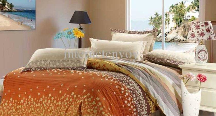 Orange Gray Bedding