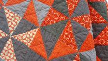 Orange Gray Pinwheel Quilt Namooquilts