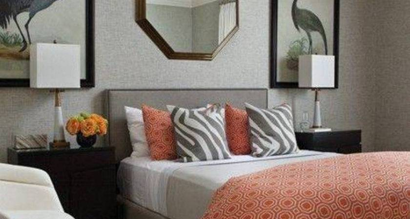 Orange Grey Bedroom Vintage Inspired