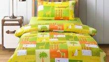 Orange Lime Green Bedding