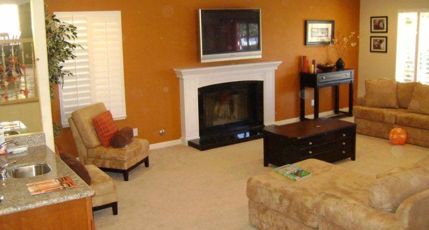 Orange Painting Accent Walls Jessica Color Trendy