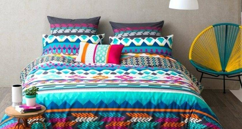 Orange Teal Bedding Bright Colorful Sets