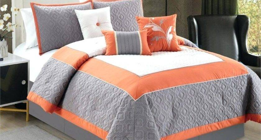 Orange Teal Bedding Dark Set Duvet