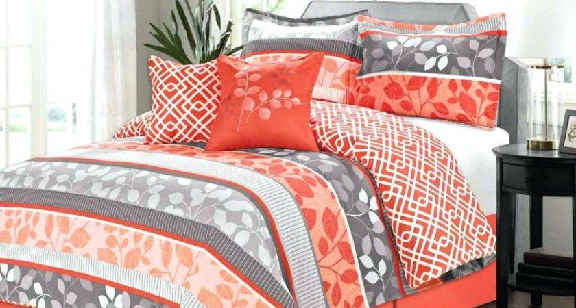 Orange Teal Bedding Paisley