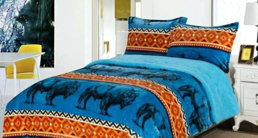 Orange Teal Bedding Queen Floral Comforter Sets