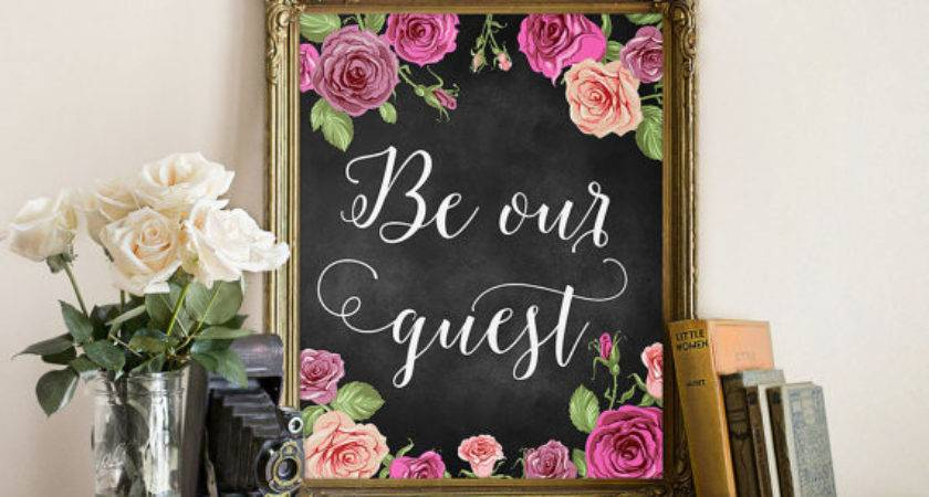 Our Guest Wall Art Print Printable Decor Room