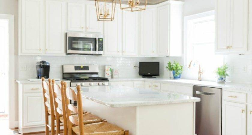 Our White Gold Kitchen Makeover Laura Trevey Home