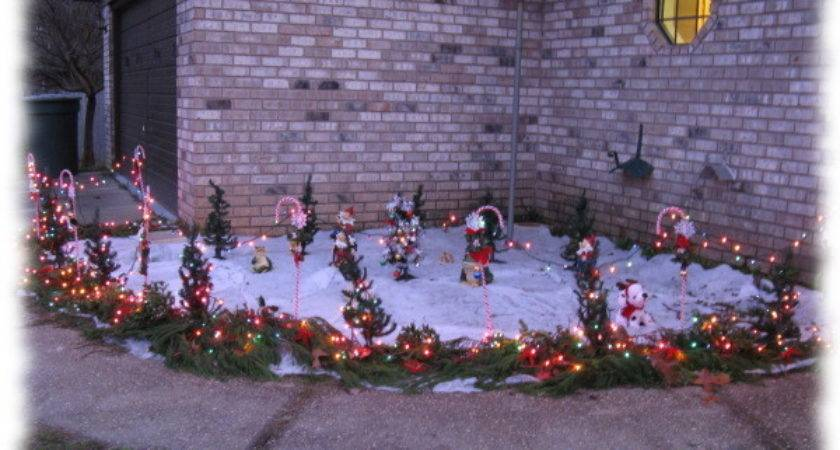 Outdoor Candy Lighted Cane Decorations