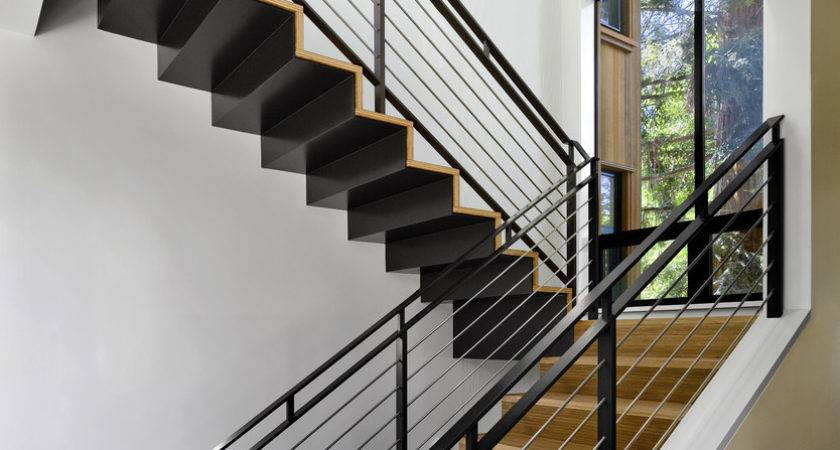Outdoor Stair Railing Ideas Staircase Contemporary