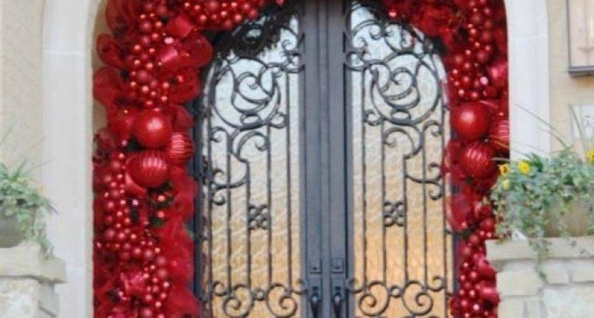Outside Christmas Door Decorations Designcorner
