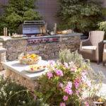 Outside Grill Ideas Patio Mediterranean Built