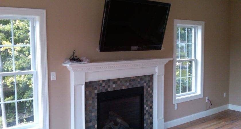 Over Fireplace Installation Home Theater