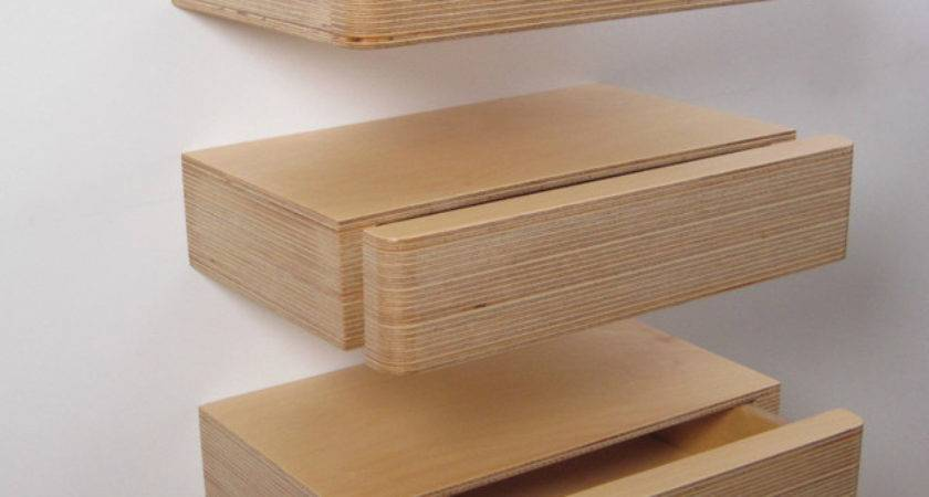 Pacco Floating Drawer Modern Display Wall Shelves