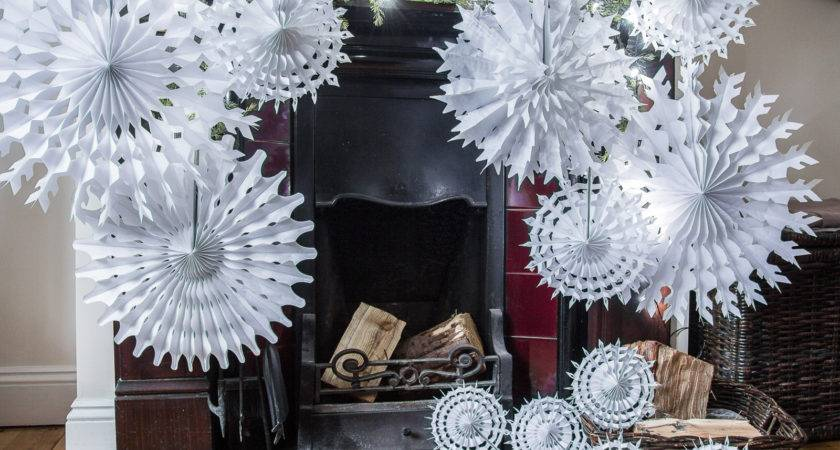 Pack Paper Snowflake Christmas Hanging Decorations