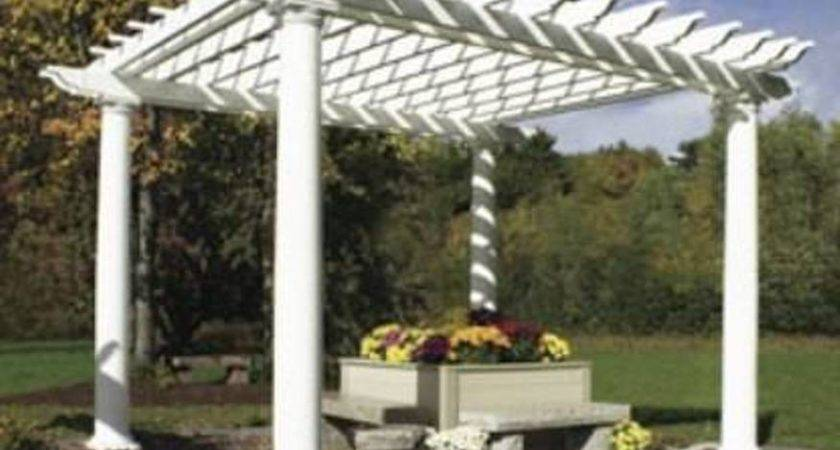 Painted White Japanese Pergola Designs Beautiful