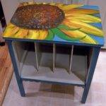 Painting Coffee Table Cool Sunflower Oil