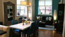 Painting Open Dining Living Room Teal Blue Accent