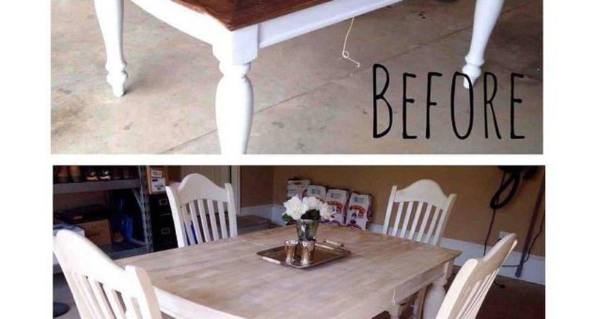 Painting Staining Kitchen Table Hometalk