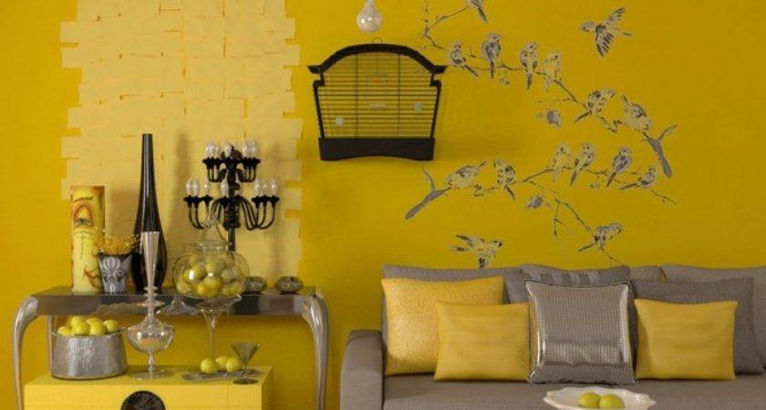 Painting Sweet Yellow Accent Wall Colors Ideas