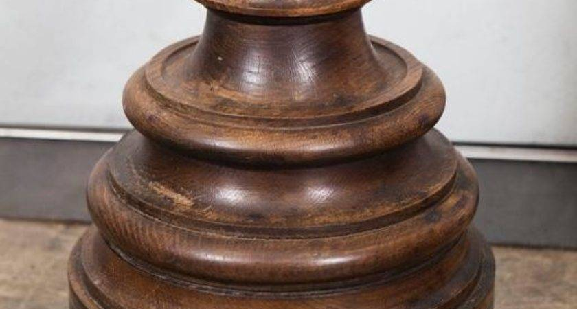 Pair Large Wooden Candle Holders Sale Stdibs
