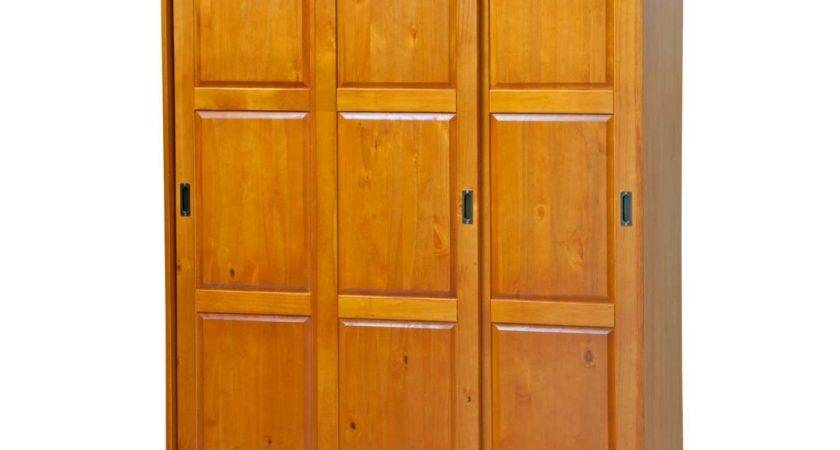 Palace Imports Sliding Door Solid Wood Wardrobe Closet