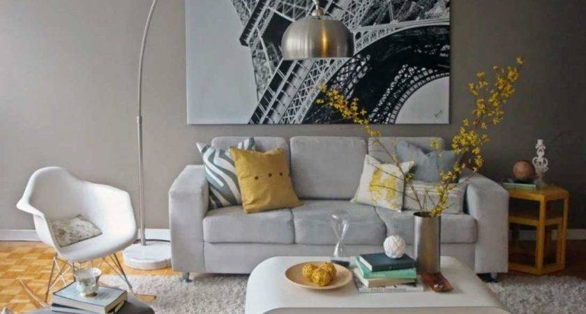 Paris Living Room Decor Ideas Grey Sofa