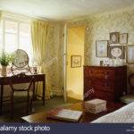 Pastel Yellow Curtains Traditional Country Bedroom