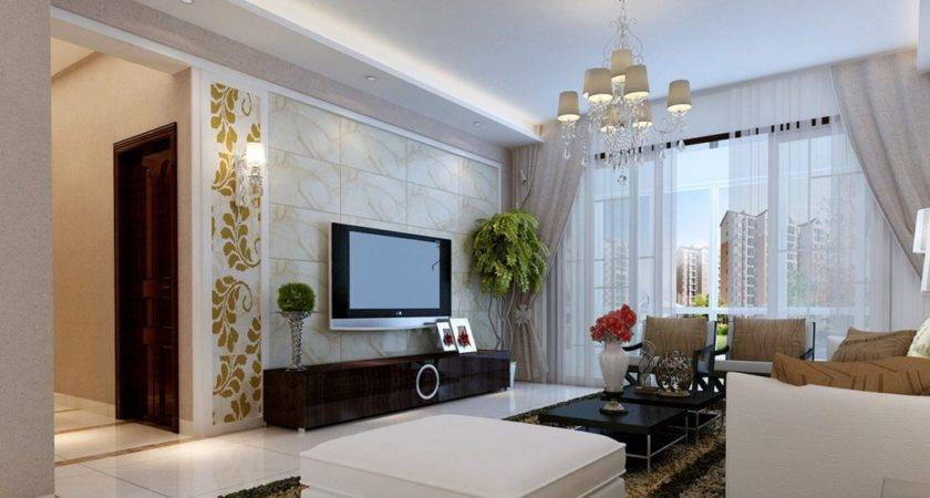 Pastoral Style Living Room Interior Design House
