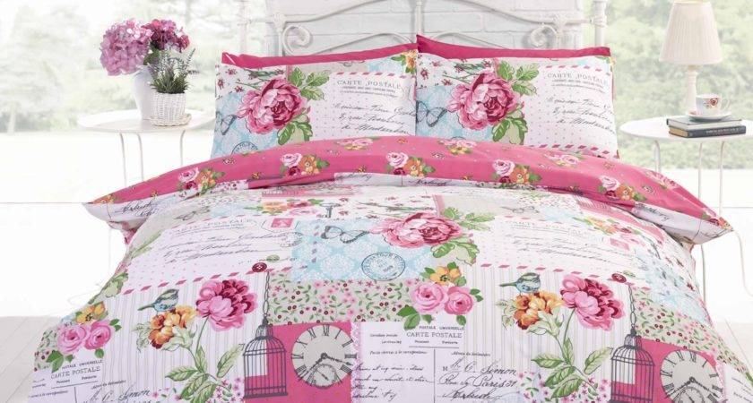 Patchwork Shabby Chic Duvet Cover Reversible Bedding Quilt