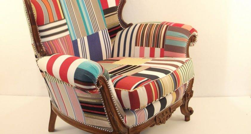 Patchwork Upholstered Chair Inspirations Pinterest