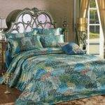 Peacock Themed Colored Comforter Bedding Sets