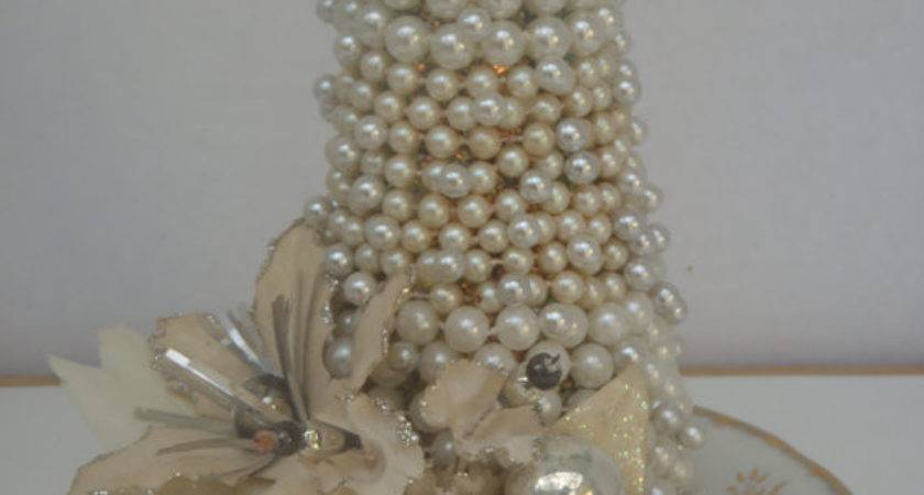 Pearl Tree Vintage Centerpiece Christmas Decoration Winter