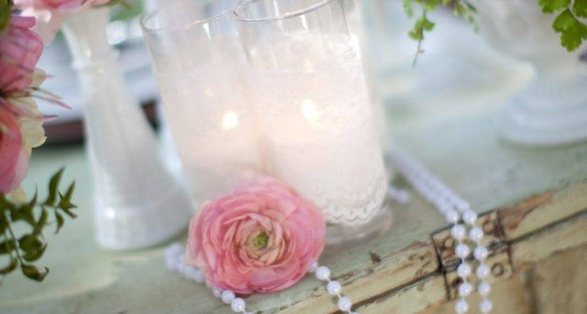 Pearls Lace Pink Garden Wedding Inspiration