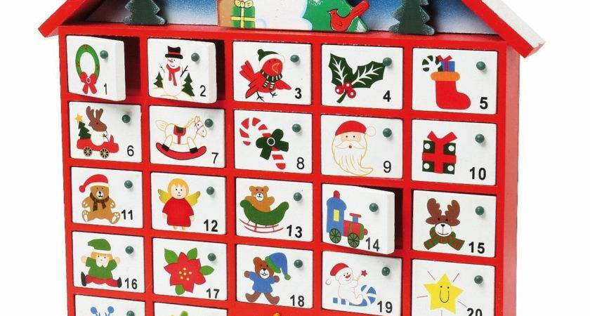 Personalized Christmas Advent Calendar House Wood