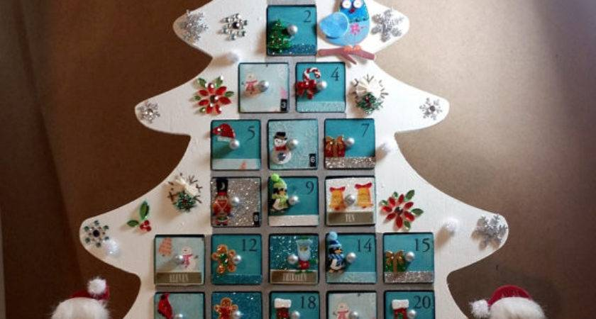 Personalized Wooden Christmas Advent Calendar Tree Ready