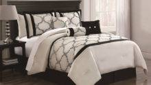 Piece Cal King Gracie Ivory Black Comforter Set Ebay