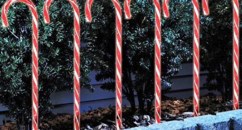 Piece Candy Cane Lawn Stakes Chasing Function