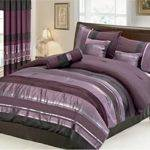Piece Eggplant Comforter Set Purple Black