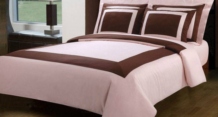 Piece Egyptian Cotton Duvet Cover Bedding Set Chocolate