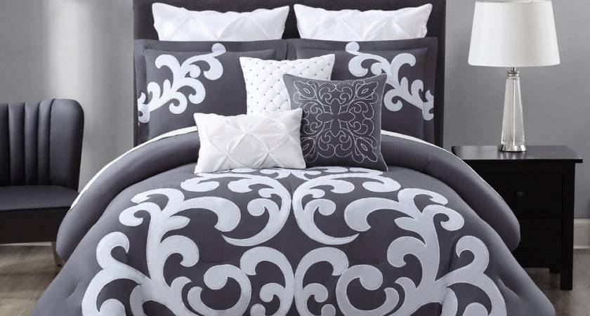 Piece Empress Gray White Comforter Set