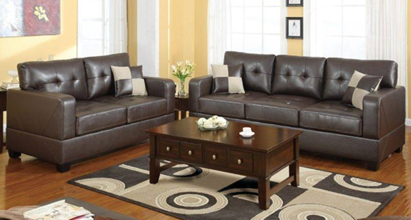 Pillows Brown Leather Sofa Room