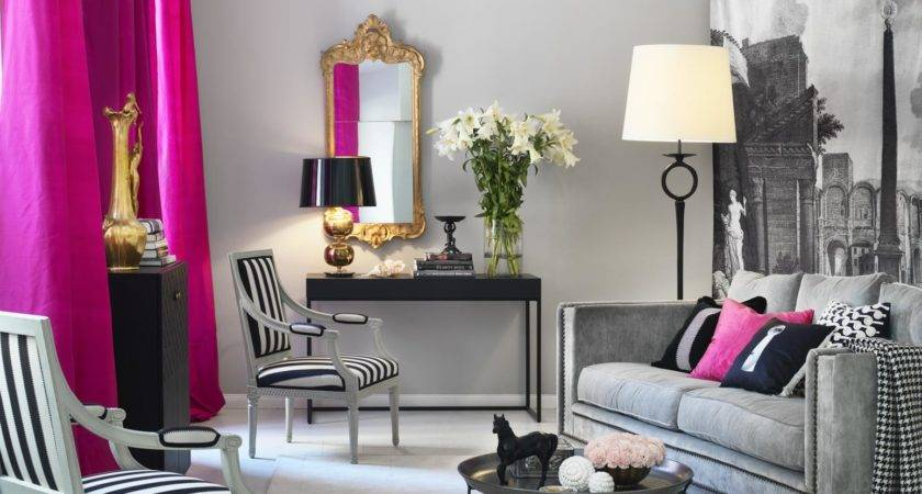 Pink Accessories Living Room