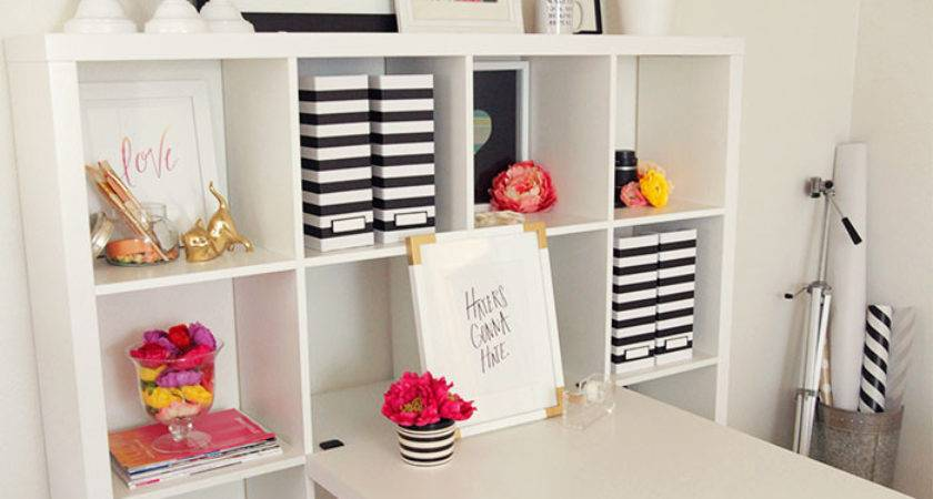 Pink Black Office Makeover Blissful Bee