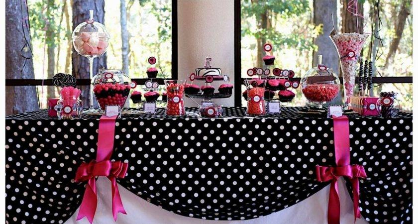 Pink Black White Party Decorations